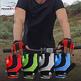 Велорукавички PowerPlay 5015 B Зелені L, фото 9