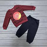 Детский костюм  тёплый на флисе для мальчиков оптом р.1-2-3 года, фото 2