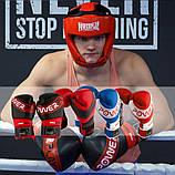Боксерські рукавиці PowerPlay 3023 A Синьо-Білі [натуральна шкіра] 10 унцій, фото 10