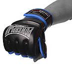 Рукавички для MMA PowerPlay 3058 Чорно-Сині XL, фото 2