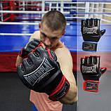 Рукавички для MMA PowerPlay 3058 Чорно-Сині XL, фото 8