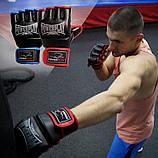 Рукавички для MMA PowerPlay 3058 Чорно-Сині XL, фото 9