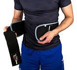 Пояс для важкої атлетики PowerPlay 5425 Сірий (Неопрен) L, фото 2