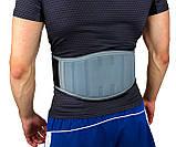 Пояс для важкої атлетики PowerPlay 5425 Сірий (Неопрен) L, фото 3