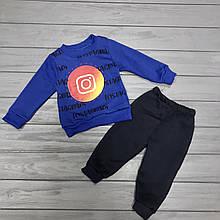 Детский костюм  тёплый на флисе для мальчиков оптом р.1-2-3 года