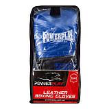 Боксерські рукавиці PowerPlay 3015 Сині [натуральна шкіра] 12 унцій, фото 7