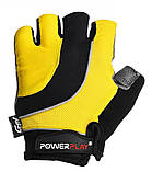 Велорукавички PowerPlay 5037 C Чорно-жовті L, фото 2