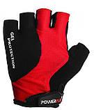 Велорукавички PowerPlay 5028 C Чорно-червоні L, фото 2