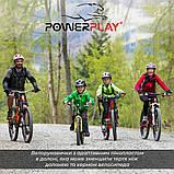 Велорукавички PowerPlay 5028 C Чорно-червоні L, фото 9