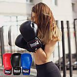 Боксерські рукавиці PowerPlay 3004 Сині 10 унцій, фото 9