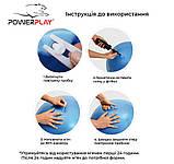 М'яч-горіх для фітнесу PowerPlay 4004 (90*45см) Розовий + насос, фото 8
