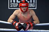 Боксерські рукавиці PowerPlay 3023 A Чорно-Червоні [натуральна шкіра] 16 унцій, фото 8