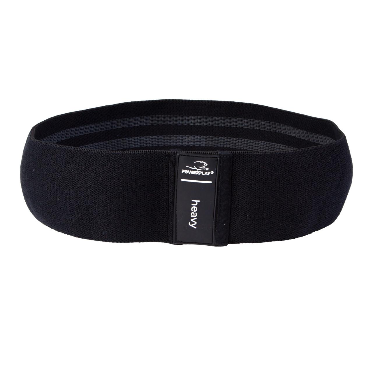 Гумка для фітнеса тканева PowerPlay 4111 L Чорний (d_84cm)