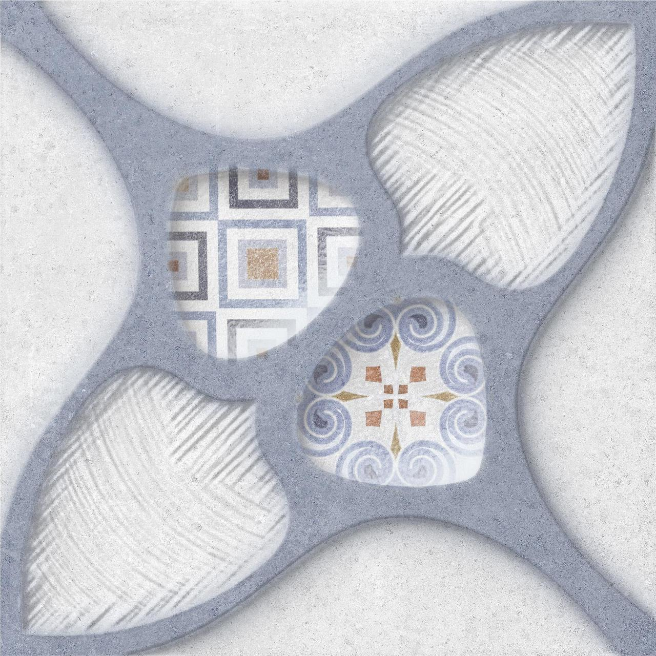 Плитка облицовочная OSET KUBRICK RELIEF BLUE 200x200
