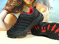 Мужские термо - кроссовки Merrell Ice Cap Moc черно-красные 46 р.