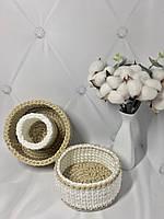 Набор вязаных корзинок для дома и интерьера handmade ручная работа Органайзер