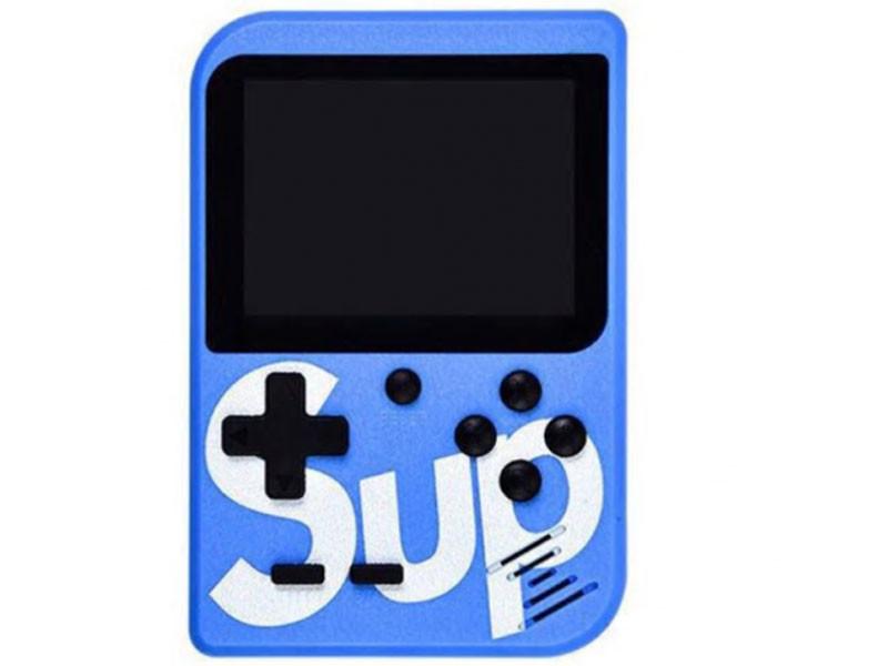 Портативная игровая приставка на 400 игр dendy SEGA 8bit SUP Game Box Синяя