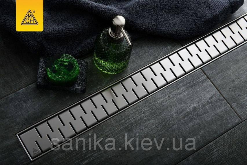 Душевой канал МСН с горизонтальным сливом DN50 и решеткой Медиум 850 мм