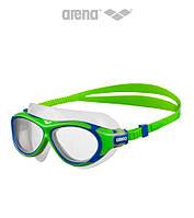 Детская и подростковая маска для плавания Arena OBL JR (Green/Blue/White)