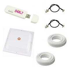 "4G комплект ""Частный сектор"" (4G роутер Huawei E8372h-153 + 4G антенна MIMO 1700-2700 МГц 17 дБ)"