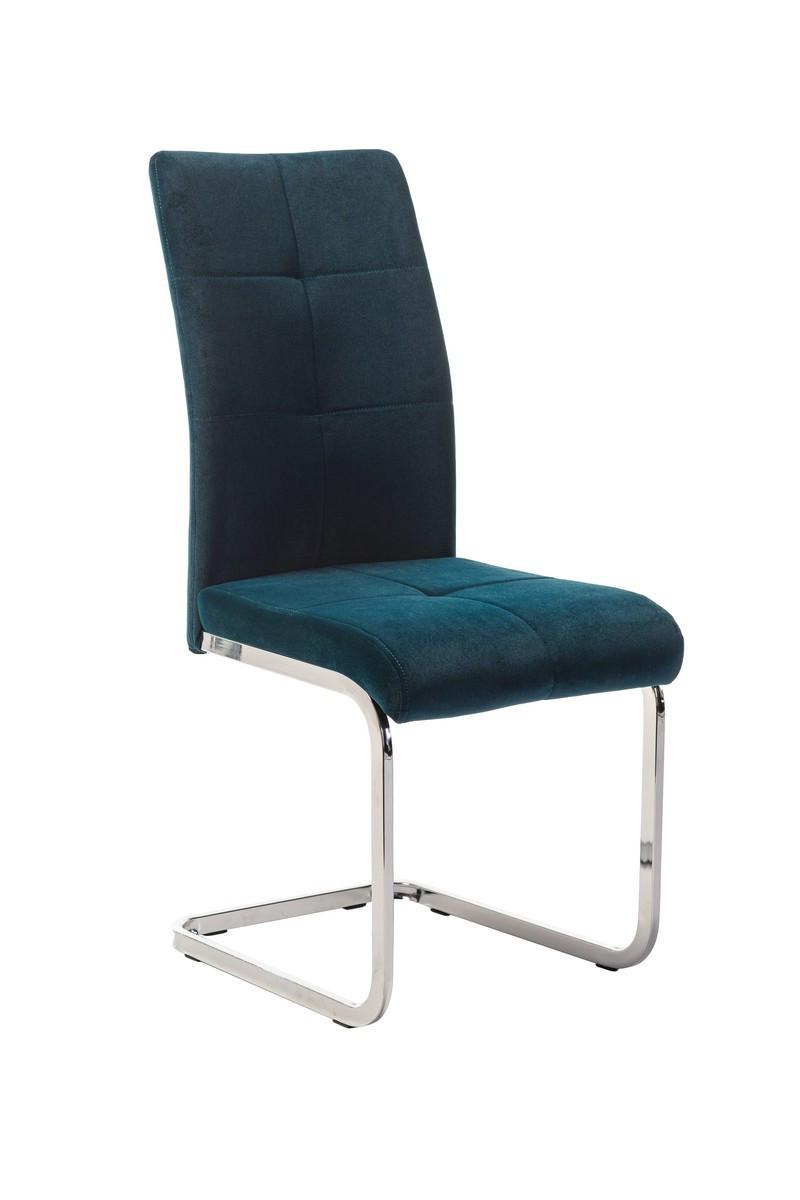 Вельветовий стілець S-119 лазурний (зелений) від Vetro Mebel, матовий