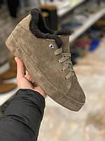 Кеди кросівки жіночі Loro Piana на хутрі (Лоро Піана)
