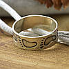 Серебряное кольцо След размер 20 ширина 6 мм вес 2.55 г , фото 2