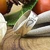 Серебряное кольцо След размер 20 ширина 6 мм вес 2.55 г , фото 5