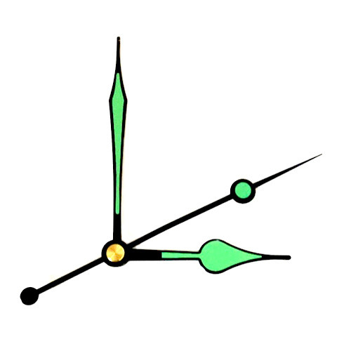Стрілки годин, годинникового механізму комплект з 3 стрілок, люмінесцентні