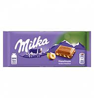 Шоколад молочный Milka Hazelnut 100г.