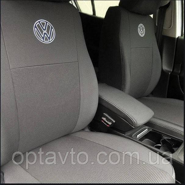 Чехлы в салон для Volkswagen Caddy с 2004-2015г модельные Prestige СТАНДАРТ (комплект)