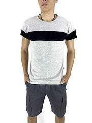 Комплект Футболка Intruder Color Stripe шорты Miami XL Светло-серый с серым Kom 158937023  4, КОД: 1721444