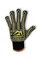 Перчатки рабочие Vulkan 5611LUX, черные, ПВХ точки