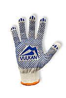 Перчатки рабочие Vulkan 8310, белые, ПВХ точки