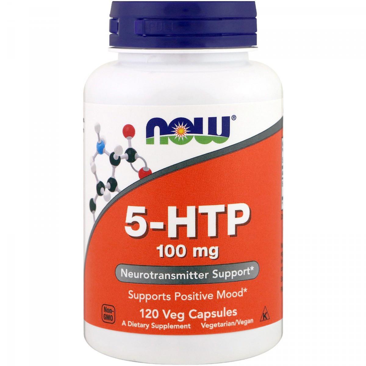 5-HTP (Гидрокситриптофан) 100мг, Now Foods, 120 вегетарианских капсул