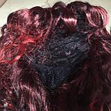 Парик длинный черно-красный локоны 50 см, фото 5
