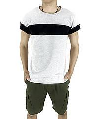 Комплект Футболка Intruder Color Stripe шорты Miami L Хаки с серым Kom 15893348  3, КОД: 1721495