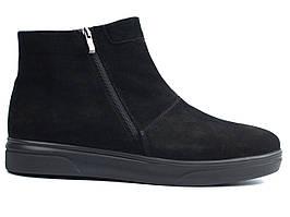 Зимові нубукові черевики уггі чоловіче взуття великих розмірів чорні Rosso Avangard Y-G Black Vel BS