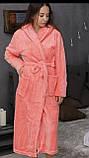 Халаты банные махровые с капюшоном, размеры L-XXXL Турция, фото 3