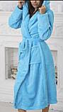 Халаты банные махровые с капюшоном, размеры L-XXXL Турция, фото 4