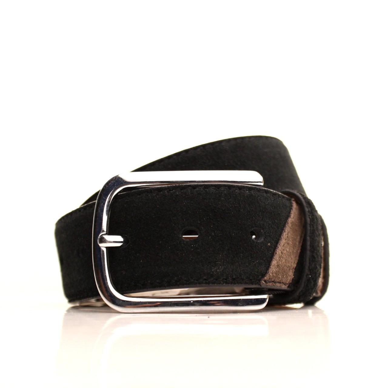 Ремень кожаный Alon 120-125 см черный l40a1w5