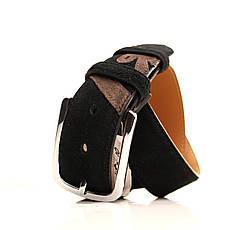 Ремень кожаный Alon 120-125 см черный l40a1w5, фото 2