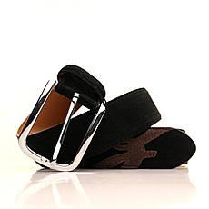 Ремень кожаный Alon 120-125 см черный l40a1w5, фото 3