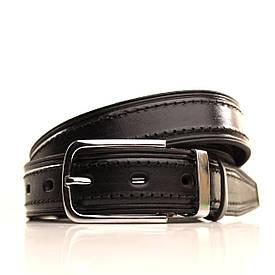 Ремень кожаный Lazar 120-125 см черный l30u1w5-1