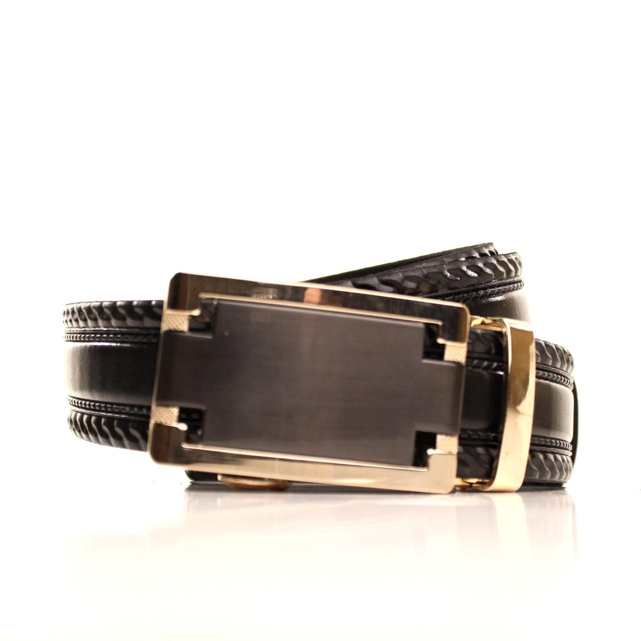 Ремень кожаный Lazar 120-125 см черный l35u1a157