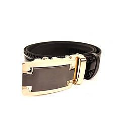 Ремень кожаный Lazar 120-125 см черный l35u1a157, фото 3