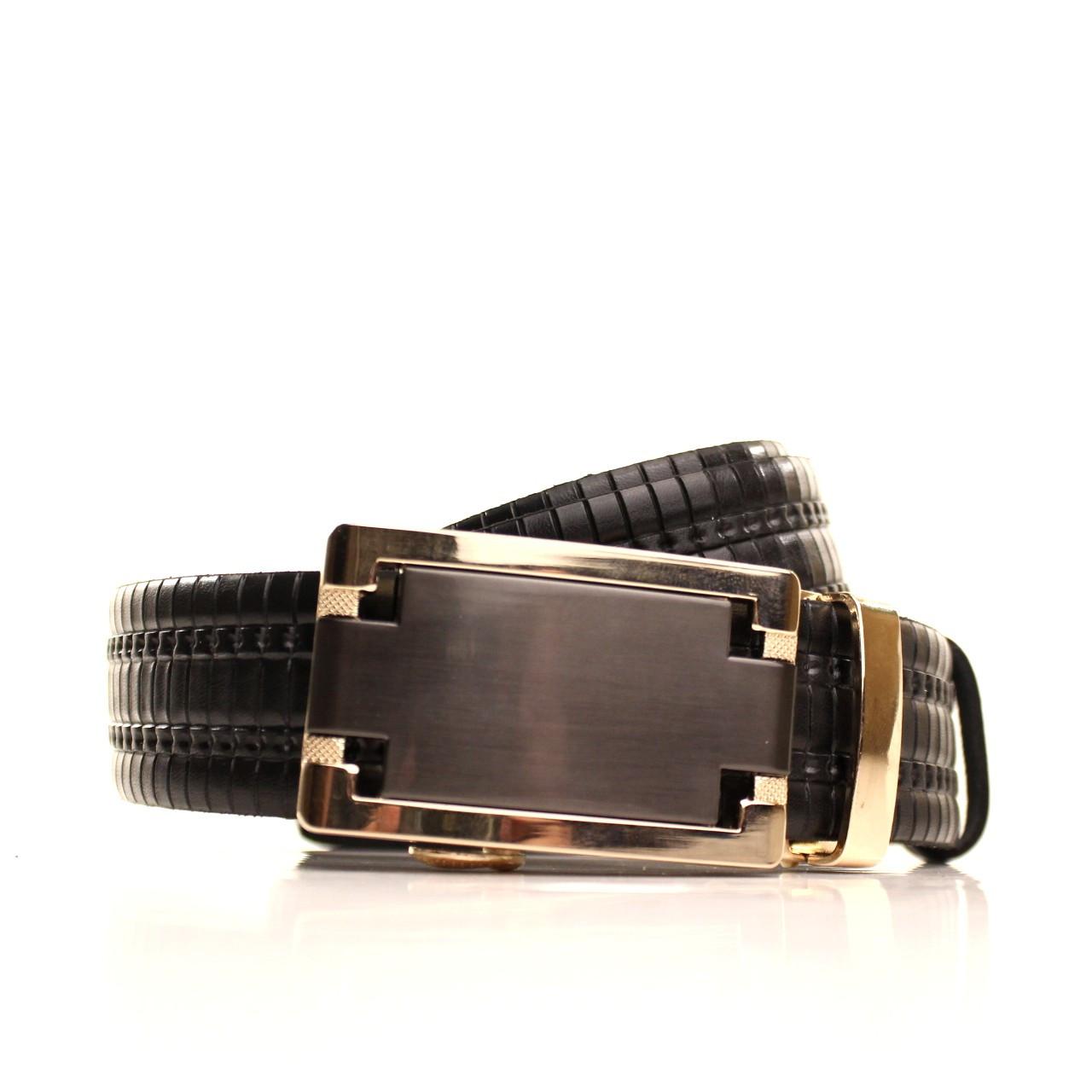 Ремень кожаный Lazar 120-125 см черный l35u1a158