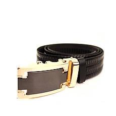 Ремень кожаный Lazar 120-125 см черный l35u1a158, фото 3