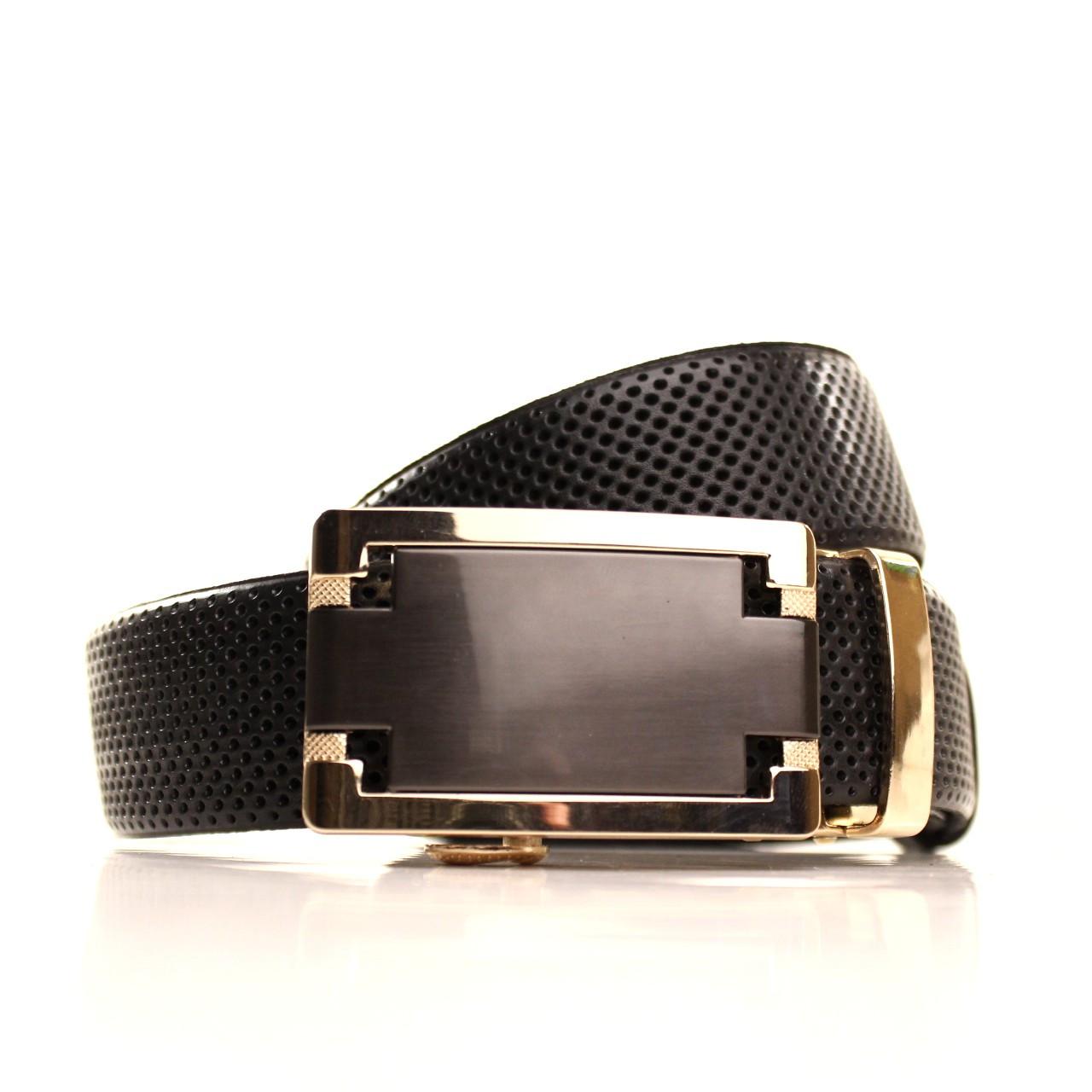 Ремень кожаный Lazar 120-125 см черный l35u1a161