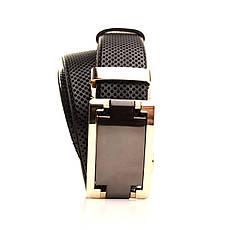 Ремень кожаный Lazar 120-125 см черный l35u1a161, фото 2